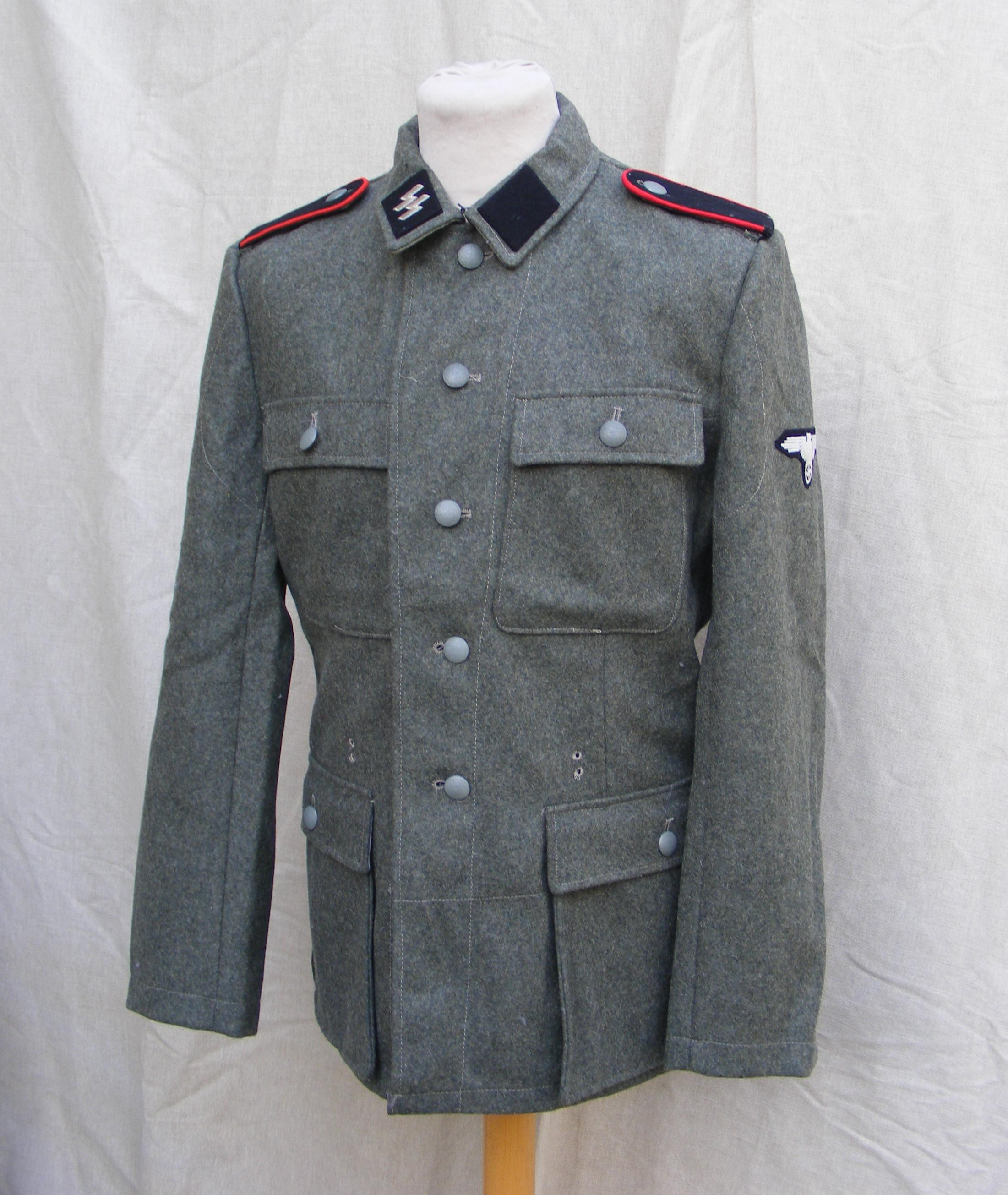 0338006593b Waffen SS M43 Tunic RUM334 | Richard A Underwood, Militaria Re ...