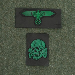 Waffen SS Eagle and Skull Cap Set Green RUM556 | Richard A